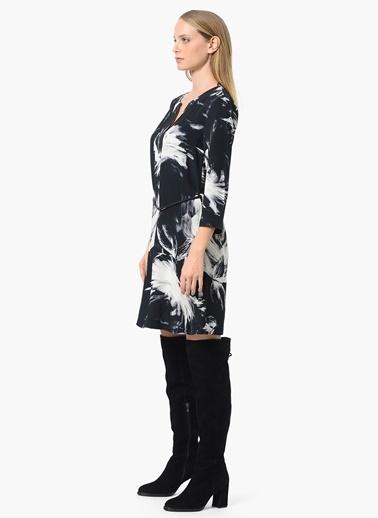 Mini Desenli Elbise-Network